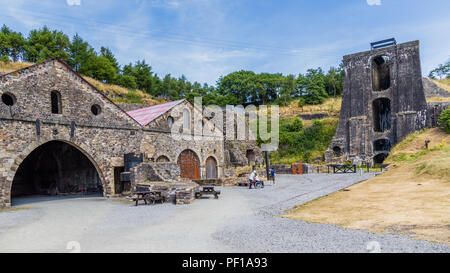 Blaenavon Ironworks in Wales, UK - Stock Photo