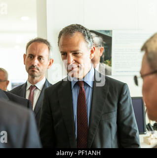 """New York, United States. 17th Aug, 2018. Ambassador Jonathan Cohen of USA attends """"Surviving Terrorism: Victims' Voices"""" exhibition launch at UN Headquarters Credit: Lev Radin/Pacific Press/Alamy Live News - Stock Photo"""
