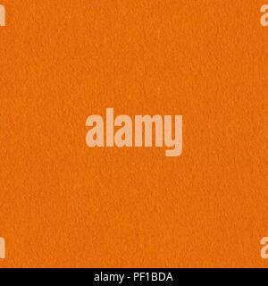 Texture of orange  felt. Seamless square background, tile ready. High resolution photo. - Stock Photo