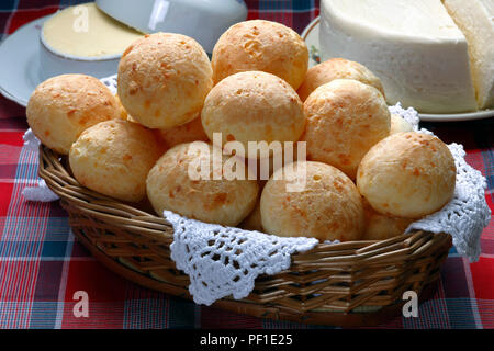 Breakfast with cheese bread - Stock Photo