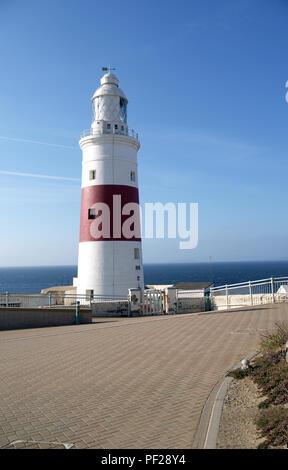 Europa Point Lighthouse Close on Gibraltar - Stock Photo