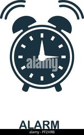 Alarm creative icon. Simple element illustration. Alarm concept symbol design from school collection. Can be used for mobile and web design, apps, sof - Stock Photo