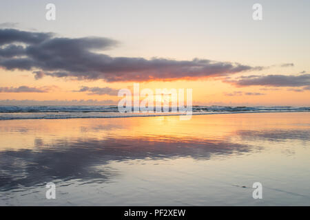 Sunrise at Surfers Paradise on the Gold Coast in Queensland, Australia - Stock Photo