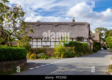 Stanton, UK - 8th August 2018: Stanton is a village in the Cotswold district of Gloucestershire and is built almost completely of Cotswold stone, - Stock Photo