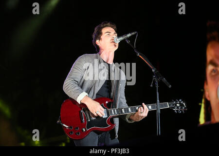 Kelly Jones, lead singer of the band Stereophonics, performs on stage on day two of the brand new Rize Festival in Hylands Park, Chelmsford, Essex. - Stock Photo