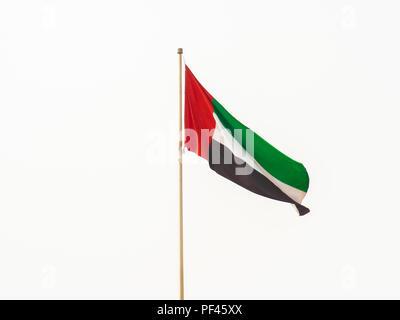 Flag of the United Arab Emirates. Dubai. - Stock Photo
