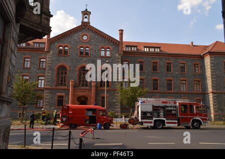 goerlitz saxony germany 2018 august: awo altenheim chemie unfall photo wehnert - Stock Photo
