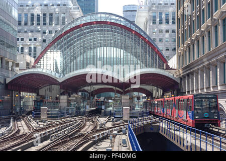 Canary Wharf DLR station, Canary Wharf, London Borough of Tower Hamlets, Greater London, England, United Kingdom - Stock Photo