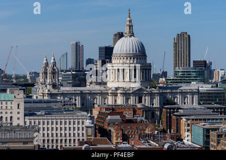 St. Paul's Cathedral, London England United Kingdom UK - Stock Photo