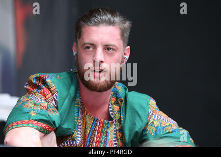 38485a559 German rapper Bausa performs on the main stage of the