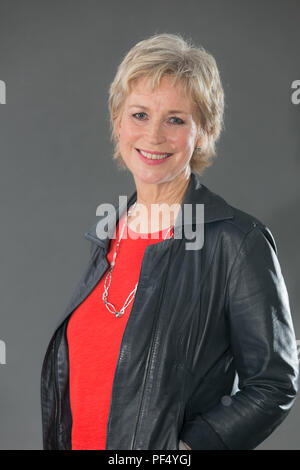 Edinburgh, UK. 19 August 2018.  Author and broadcaster Sally Magnusson at Edinburgh Book Festival 2018. Credit: Brian Wilson/Alamy Live News - Stock Photo