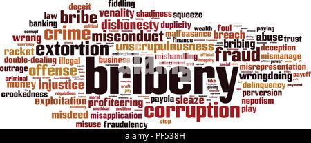 Bribery word cloud concept. Vector illustration - Stock Photo