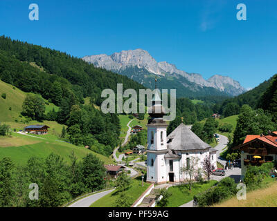 Wallfahrtskirche Maria Gern, Berchtesgaden, Berchtesgadener Land, Oberbayern, Bayern, Deutschland | pilgrimage church Maria Gern, Bavaria, Gemany - Stock Photo