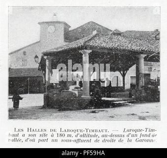 LES HALLES DE LAROQUE - TIMBAUT - Stock Photo