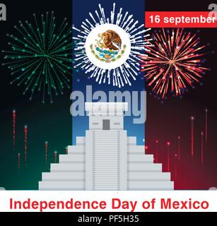 Fiesta, Fireworks and celebration background, winner, victory poster, banner - Stock Photo