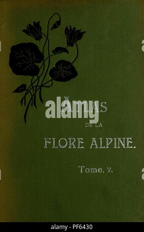 Atlas de la flora alpine Stock Photo