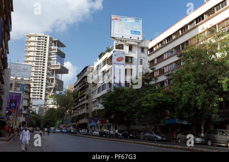 Antilla house of mukesh ambani ; Bombay ; Mumbai ; Maharashtra ; India - Stock Photo