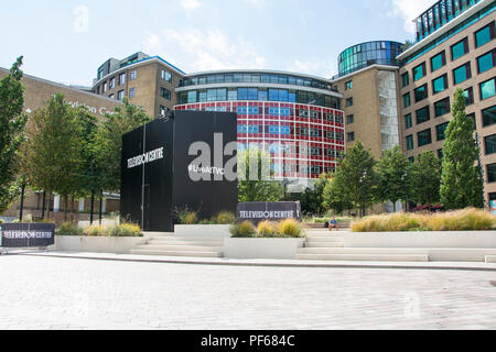 The former BBC Television Centre, Wood Lane, Shepherds Bush, London, UK - Stock Photo