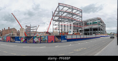 Time Square in Warrington is undergoing a £107 million development to revitalise the traditional retail and leisure heart of the town centre and the B - Stock Photo