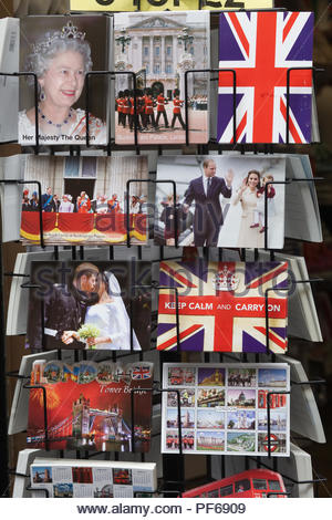 Postcards of the royal family - Stock Photo