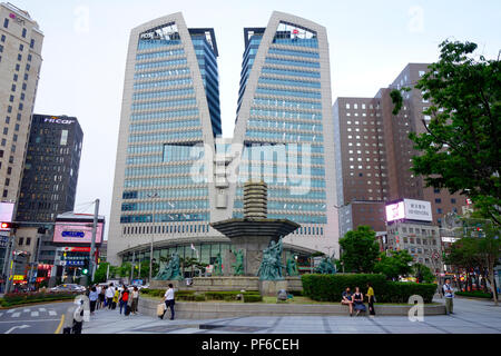 Seoul Central Post Office Building, Myeong-dong, Myeongdong, Seoul, South Korea. - Stock Photo
