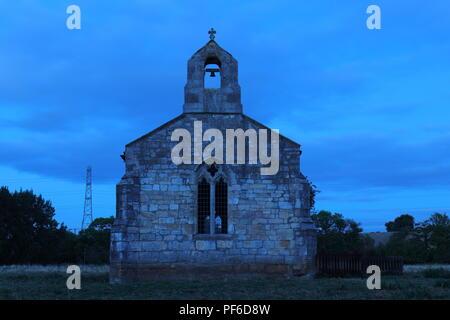 St Mary's Church at night near Tadcaster - Stock Photo