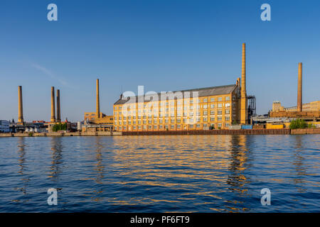 The former KWO (Kabelwerk Oberspree) listed building now partially in use by the University of Applied Sciences (HTW) Berlin, summer 2018, Germany - Stock Photo