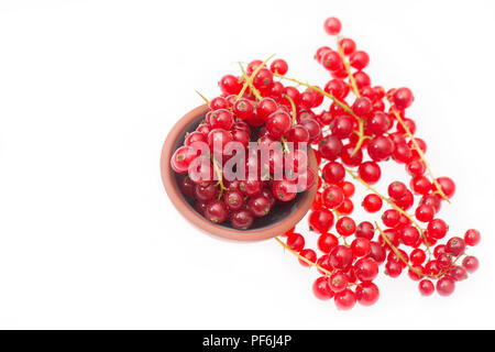 Red currants isolated on a white background - Stock Photo