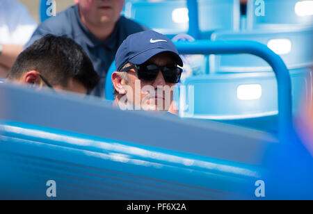 August 19, 2018 - Darren Cahill during the final of the 2018 Western & Southern Open WTA Premier 5 tennis tournament. Cincinnati, Ohio, USA. August 19th 2018. Credit: AFP7/ZUMA Wire/Alamy Live News - Stock Photo
