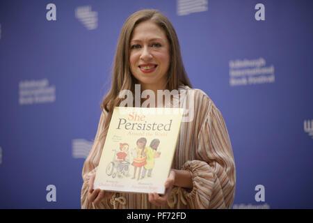 Edinburgh, Scotland, UK. 20th Aug 2018. Chelsea Clinton at the Edinburgh International Book Festival. Credit: Steven Scott Taylor/Alamy Live News Credit: Steven Scott Taylor/Alamy Live News - Stock Photo
