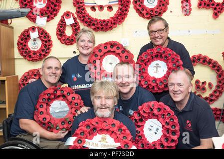 Edinburgh, UK. 20th Aug 2018. The Cast of Unspoken photocall at Poppy Scotland, Edinburgh Credit: Tracey Largue/Alamy Live News - Stock Photo