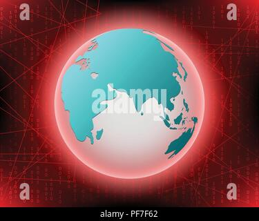 World Cyber attack by hacker concept background. vector illustration eps10 - Stock Photo