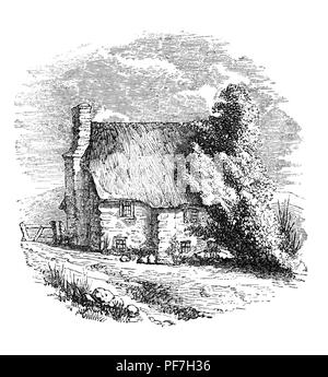 The original parsonage house in Lynton, Devon, England was built in 1560 and used until the beginning of the 18th century shortly after which it was demolished.