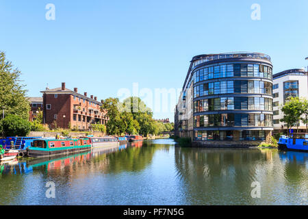Ice Wharf apartments on Regent's Canal, King's Cross, London, UK - Stock Photo