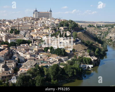 View of Toledo,  Castilla-La Mancha, Spain - Stock Photo