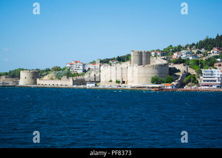 Kilitbahir Castle (Kilitbahir Kalesi) a fortress on the west side of the Dardanelles, opposite the city of Çanakkale. The castle was constructed by Fa - Stock Photo