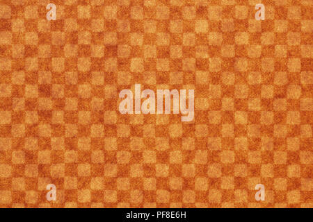 Japanese brown checkered pattern paper texture or vintage background - Stock Photo