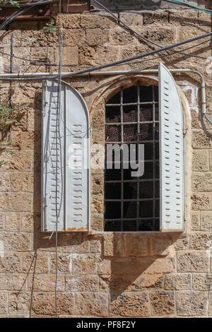 Old building in Old Jaffa, Tel Aviv, Israel - Stock Photo