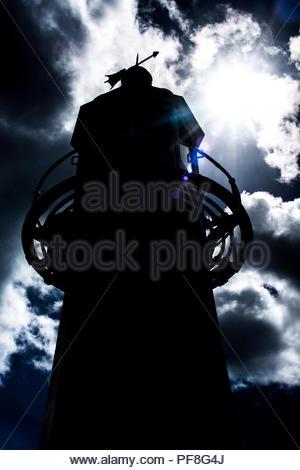 Lighthouse silhouette - Stock Photo