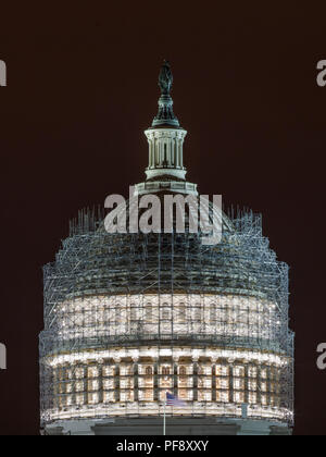 US Capitol Building Under repair - Stock Photo