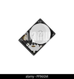 Color vector image. HDD, hard disk on a white background - Stock Photo