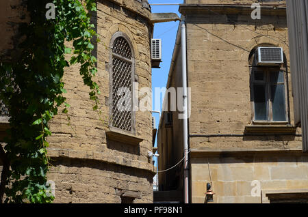Içerisahar, the medieval Old town of Baku (Azerbaijan) - Stock Photo