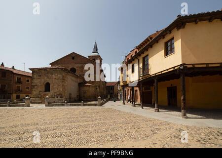 Plaza del Grano in Leon city, spain, tradicional arquitecture - Stock Photo