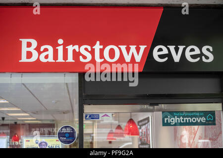 Bairstow Eves (part of the Countrywide plc Group) Estate agents shop signage in Brentwood Essex - Stock Photo