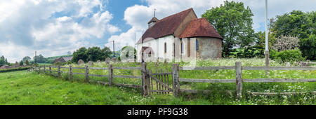 Church of St Mary the Virgin in Upwaltham, West Sussex - Stock Photo
