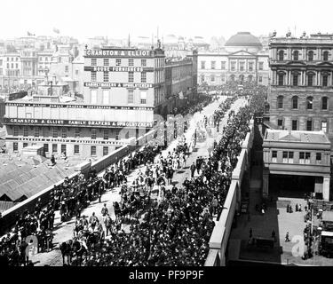 Lord High Commissioner's Parade, Edinburgh, Victorian period - Stock Photo