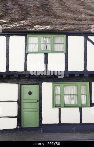Winslow, UK - April 27, 2015. Old Tudor timber frame cottage in England, UK - Stock Photo