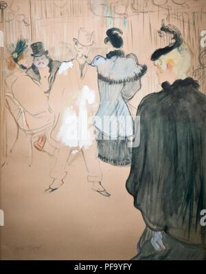 Henri Toulouse Lautrec - La Goulue et Paul Lescau (at the Moulin Rouge) 1894 - Stock Photo