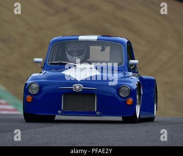 Ian Medcalf, FIAT 500 Touring car, Historic Abarth Demonstration, Special Italian Car demo, Festival Italia, Brands Hatch, Kent, England, August 19th, - Stock Photo