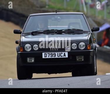FIAT Strada Abarth, Historic Abarth Demonstration, Special Italian Car demo, Festival Italia, Brands Hatch, Kent, England, August 19th, 2018. - Stock Photo